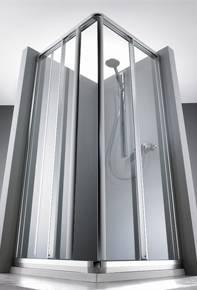 2-х секционная раздвижная дверь  для углового входа HUPPE 1002. Производитель: Германия, Huppe