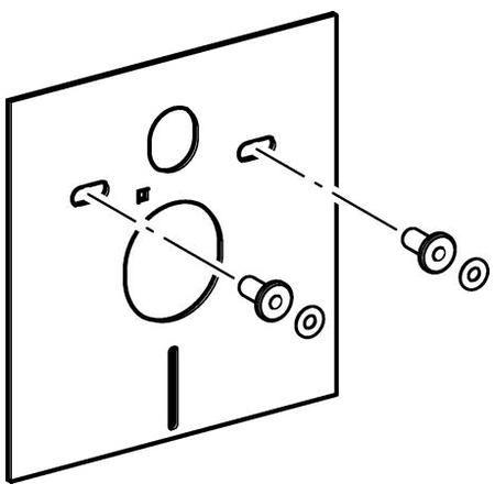 Geberit 156.050.00.1 Звукоизолирующий комплект для подвесного унитаза . Производитель: Швейцария, Geberit
