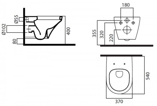 Схема AM-PM Inspire C501738WH Унитаз подвесной