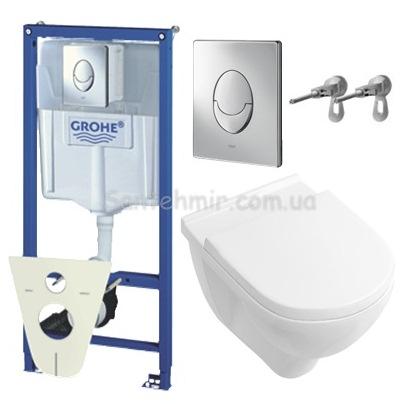 Инсталляция Grohe 38721001 4 в 1 + Villeroy & Boch O.Novo 5660H101 Унитаз подвесной с крышкой soft close. Производитель: , Grohe