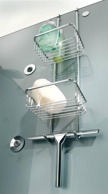 Аксессуары для ванной: Система полочек и скребок HUPPE, хром 492001091. Производитель: Германия, Huppe
