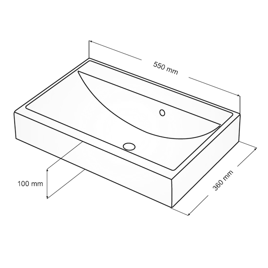 Схема Fancy Marble UM550 раковина из литого мрамора 55х36 см