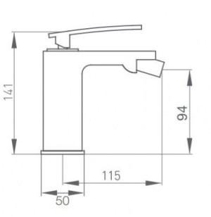 Схема GRB Despertar 815110 Смеситель для биде белый/хром