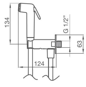 Схема GRB Intimixer 08120100 Гигиенический душ с запорным вентилем