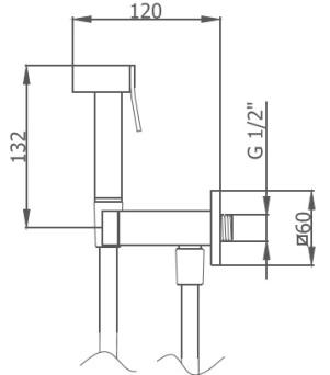 Схема GRB Intimixer 08155200 Набор для гигиенического душа