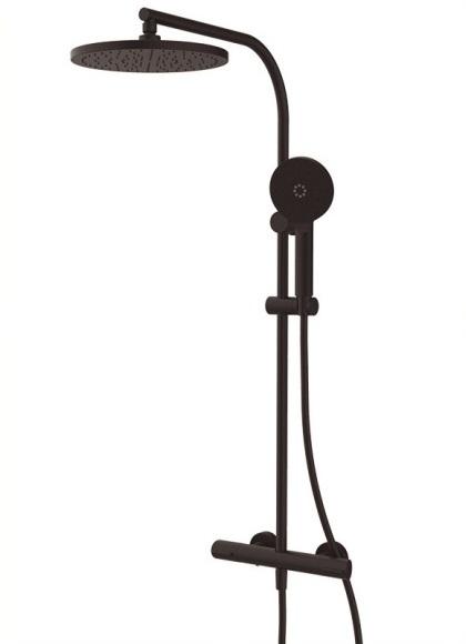 GRB DRY 44435442XL Душевая система с термостатом, цвет черный матовый. Производитель: Испания, GRB