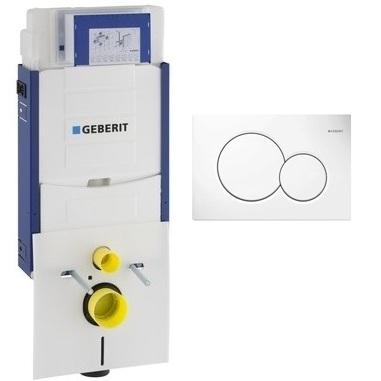 Geberit 110.350.00.5 инсталляция для монтажа для подвесного унитаза со звукоизол. комплектом + клавиша Sigma 01 белая. Производитель: Швейцария, Geberit