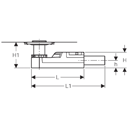 Схема Geberit CleanLine 154.052.00.1 Трап для душа с решеткой, высота 65 мм