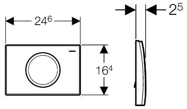 Схема Geberit Delta11 115.120.21.1 Смывная клавиша хром
