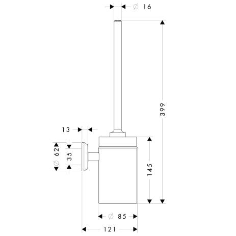 Схема Hansgrohe Logis Classic 41632000 Туалетный ершик, керамика