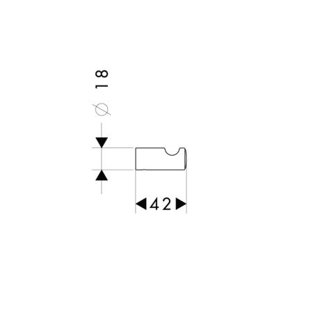 Схема Аксессуары для ванной Hansgrohe Logis Classic 41611000 Крючок одинарный