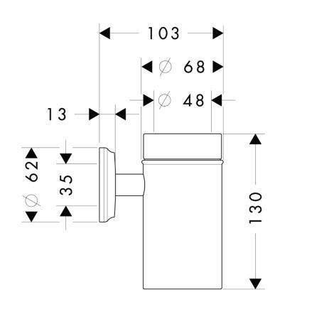 Схема Hansgrohe Logis Classic 41618000 Стаканчик для щеток, керамика