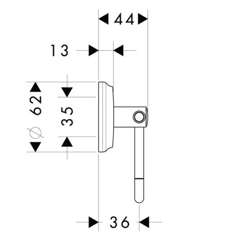 Схема Аксессуары для ванной Hansgrohe Logis Classic 41626000 Держатель туалетной бумаги