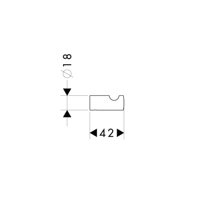 Схема Hansgrohe Logis 40511000 Крючок одинарный