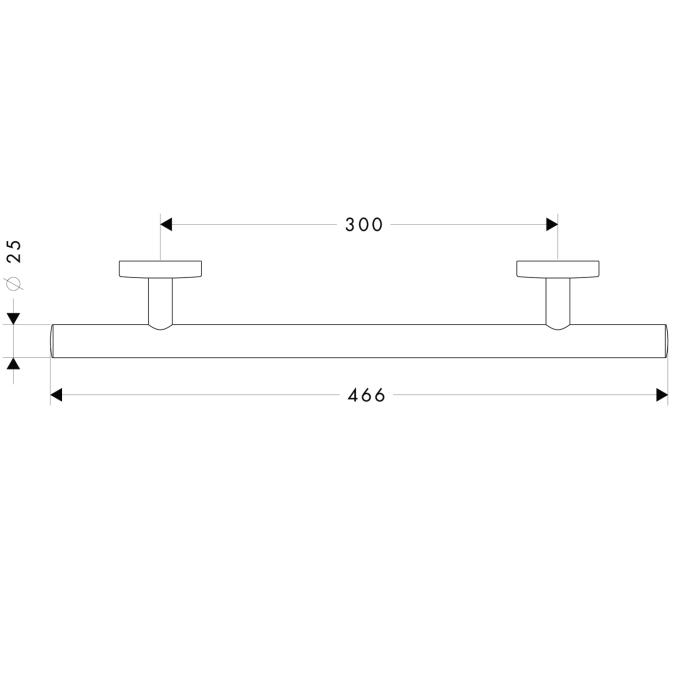 Схема Hansgrohe Logis 40513000 Поручень, 466 мм