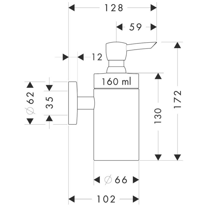 Схема Hansgrohe Logis 40514000 Дозатор жидкого мыла