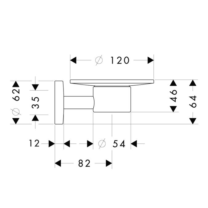 Схема Hansgrohe Logis 40515000 Мыльница