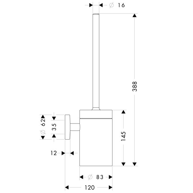 Схема Hansgrohe Logis 40522000 Туалетный ершик