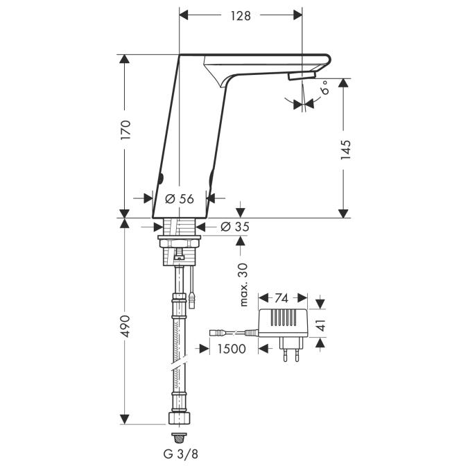 Схема Hansgrohe Metris S