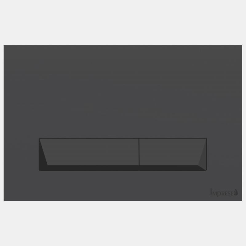 Imprese i8040B PAN Black Soft Touch Клавиша смыва черная матовая. Производитель: Чехия, Imprese