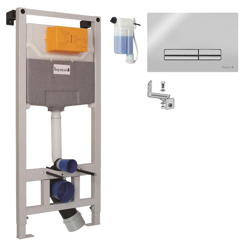 Imprese i9120OLIpure Инсталяция для подвесного унитаза 3 в 1 с хромированной клавишей и креплением. Производитель: Чехия, Imprese