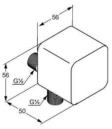 Схема Kludi A-QA 655400500 Шланговое подключение