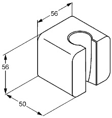 Схема Kludi A-QA 655510500 Настенный держатель душа