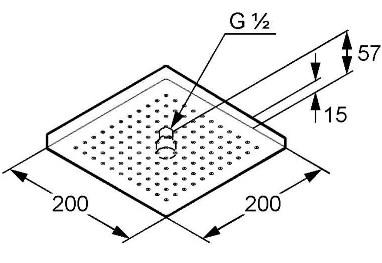 Схема Kludi A-QA 665300500 Верхний душ 200x200 мм