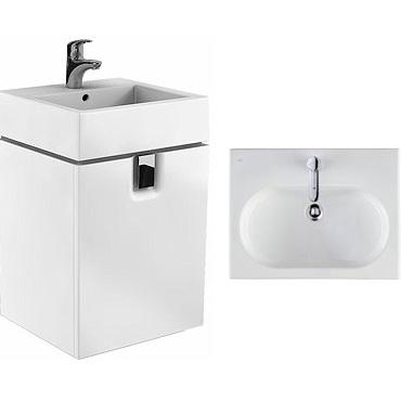 KOLO Twins 89483000+L51151000 шкафчик 50см с дверцей с умывальником овальным внутри . Производитель: Польша, Kolo