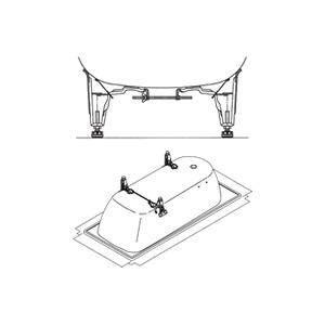 Схема Kaldewei Saniform Plus 5030 Ножки оригинальные для ванны 581470000000