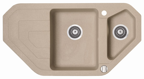 Marmorin Sten 385613xхх Гранитная кухонная мойка trapezial 970х510х215 мм. Производитель: Польша, Marmorin