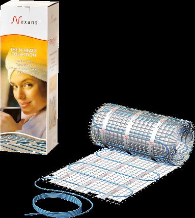 Nexans Millimat 1м² 150 Вт Нагревательный мат для теплого пола под плитку. Производитель: Норвегия, Nexans