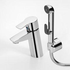 Смеситель для умывальника с гигиеническим душем Oras Cubista (2812). Производитель: Финляндия, Oras