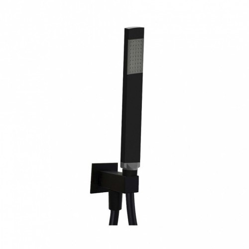 Paffoni ZDUP095NO Душевой набор с подключением шланга и держателем черный матовый. Производитель: Италия, Paffoni