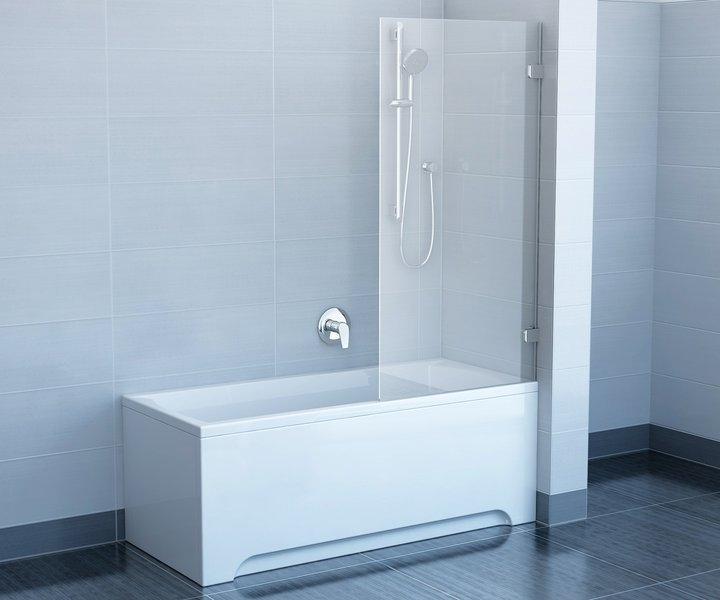 Ravak BVS1 Шторка для ванной 80 см, стационарная, одноэлементная. Производитель: Чехия, Ravak