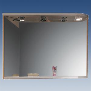 RAVAK Rosa M 780 L/R Зеркало с полкой, встроенными точечными  светильниками и розеткой, 780х160х680мм. Производитель: Чехия, Ravak