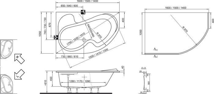 Схема Ravak Rosa1 140 L/R
