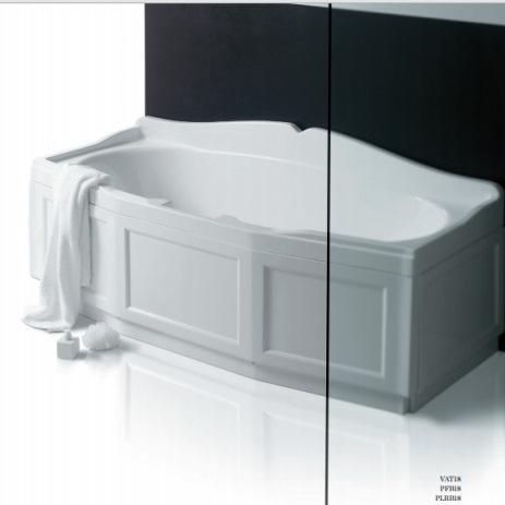 Simas VAT18+PFB18 Ванна 180х80 см с каркасом, с фронтальной панелью белого цвета. Производитель: Италия, Simas