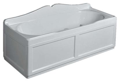 Simas VAT17+PFB17+PLRB17 Ванна 170х70 см с каркасом, с фронтальной и 2 боковыми панелями белого цвета