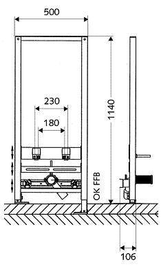 Схема Инсталляция Schell 032440099 для биде