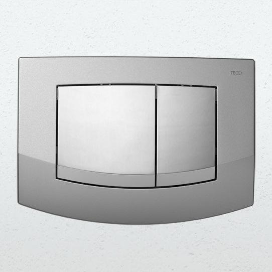 TECE Teceambia 9240253 клавишная панель смыва, рамка - хром матовый, клавиши - хром глянцевый. Производитель: Германия, Tece