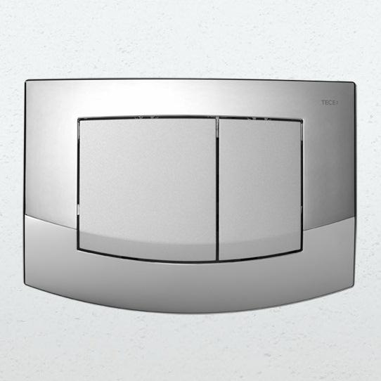 TECE Teceambia 9240254 клавишная панель смыва, рамка - хром глянцевый, клавиши - хром матовый. Производитель: Германия, Tece