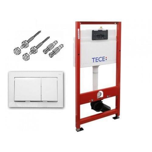 TECE 9400000 инсталляция для подвесного унитаза, комплект 3 в 1 с белой клавишей. Производитель: Германия, Tece