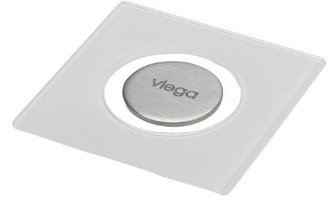 Решетка Viega Visign RS5 617127, светлое стекло. Производитель: Германия, Viega