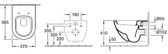 Схема Geberit Duofix UP320 111.362.00.5 Инсталляция c креплением и звукоизоляцией + Subway 66001001 c крышкой soft close