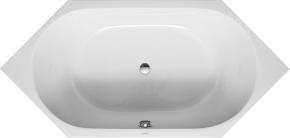 Duravit D-Code 7001380000 Ванна 190х90 акриловая, шестиугольная встраиваемая