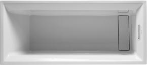 Ванна прямоугольная 2nd floor DURAVIT 700073 160х70 см со специальным сливом и переливом встраиваемая. Производитель: Германия, Duravit
