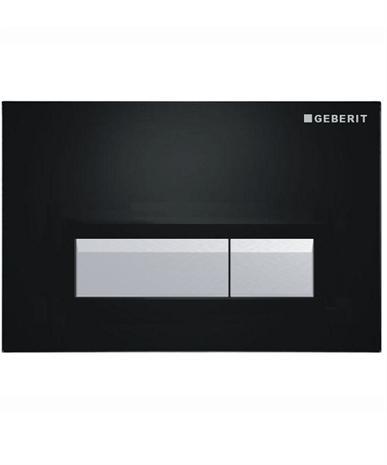 Geberit Sigma40 115.600.KR.1 смывная клавиша со встроенной системой удаления запахов, черный/алюминий . Производитель: Швейцария, Geberit