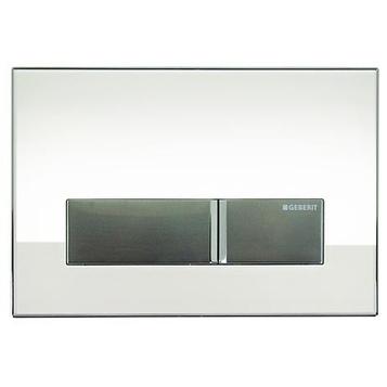 Geberit Sigma40 115.600.SI.1 смывная клавиша со встроенной системой удаления запахов, белое стекло/алюминий . Производитель: Швейцария, Geberit
