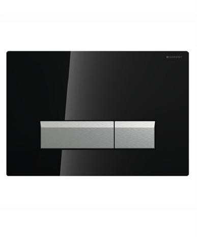 Geberit Sigma40 115.600.SJ.1 смывная клавиша со встроенной системой удаления запахов, черное стекло/алюминий . Производитель: Швейцария, Geberit
